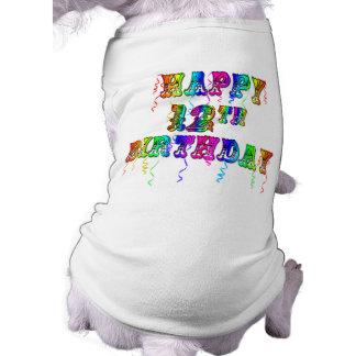 Glückliche 12. Geburtstags-Geschenke und Geburtsta Hunde T Shirts