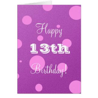 Glückliche 13. Geburtstags-Karte für Mädchen Karte
