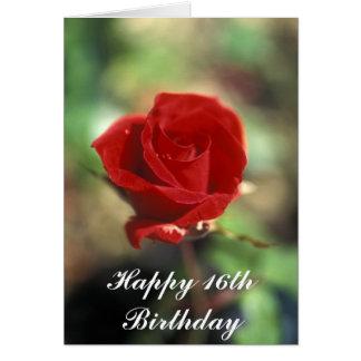 Glückliche 16. Geburtstags-Blumen-Karte Karte
