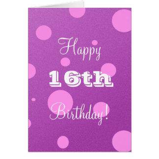 Glückliche 16. Geburtstags-Karte für Mädchen Karte