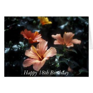 Glückliche 18. Geburtstags-Blumen-Karte Karte