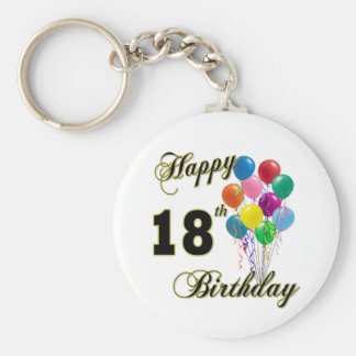 Glückliche 18. Geburtstags-Geschenke Standard Runder Schlüsselanhänger