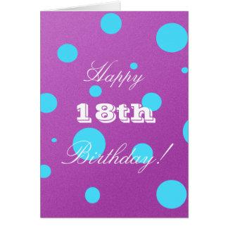 Glückliche 18. Geburtstags-Karte für Mädchen Karte