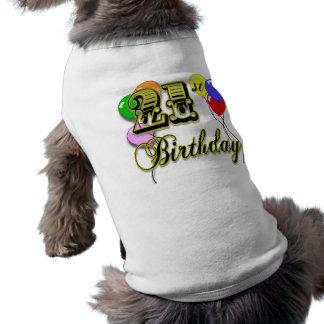 Glückliche 21. Geburtstags-Waren Hundeshirt