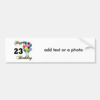 Glückliche 23. Geburtstags-Geschenke mit Ballonen Autoaufkleber