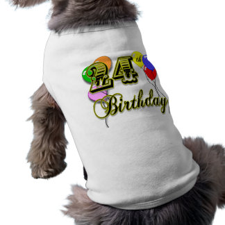 Glückliche 24. Geburtstags-Waren Haustierbekleidung