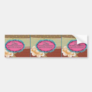 Glückliche 25. Hochzeitstag-Gruß-Karten Autoaufkleber