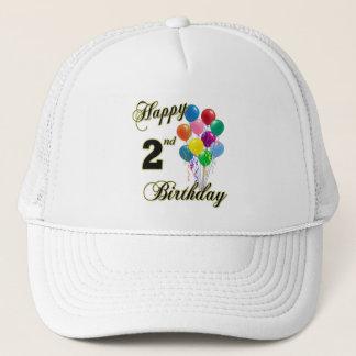 Glückliche 2. Geburtstags-Hüte und Baseballmützen Truckerkappe