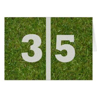 Glückliche 35. Geburtstags-Fußball-Karte Karte