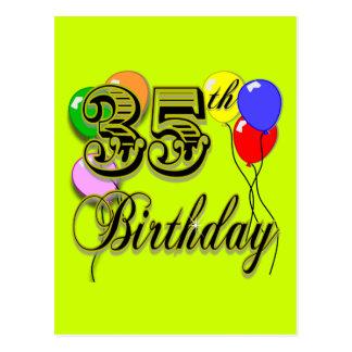 Glückliche 35. Geburtstags-Geschenke Postkarte