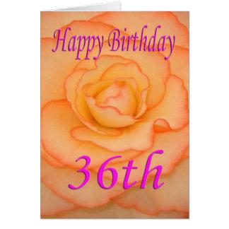 Glückliche 36. Geburtstags-Blume Karte