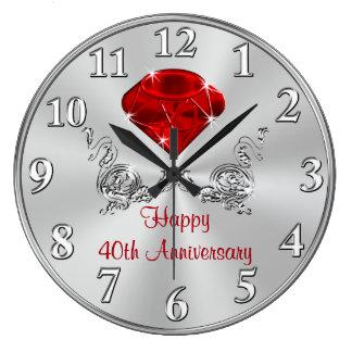 Glückliche 40. Hochzeitstag-Geschenke UHR