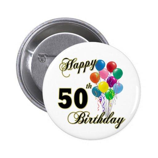 Glückliche 50. Geburtstags-Geschenke und Geburtsta Anstecknadelbutton