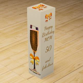 Glückliche 50. Geburtstags-Mamma Weinbox