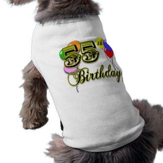 Glückliche 55. Geburtstags-Feier Hunde Shirts