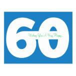 Glückliche 60. Geburtstags-Meilenstein-Postkarten