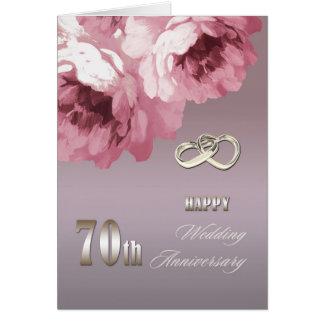 Glückliche 70. Hochzeitstag-Gruß-Karten Grußkarte