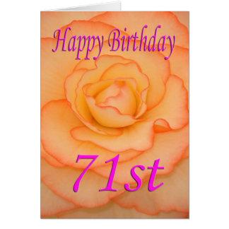 Glückliche 71. Geburtstags-Blume Karte