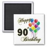 Glückliche 90. Geburtstags-Geschenke und Geburtsta Magnete
