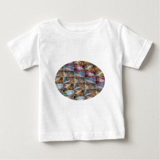 Glückliche abstrakte Kunst des Baby T-shirt