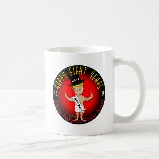 Glückliche acht neue Jahre Kaffeetasse