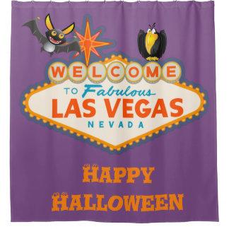 Glückliche Art Halloweens Las Vegas Duschvorhang