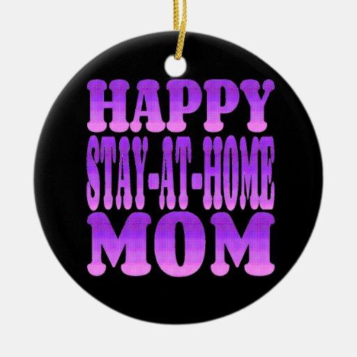 Glückliche Aufenthalt-zu Hause Mamma in Lila Ornament