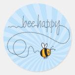 glückliche Aufkleber der Biene Hinter