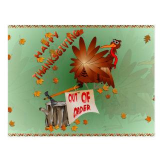 Glückliche außer BetriebErntedank-Postkarte Postkarte