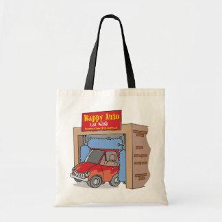 Glückliche Auto-Auto-Wäsche-Taschen-Tasche