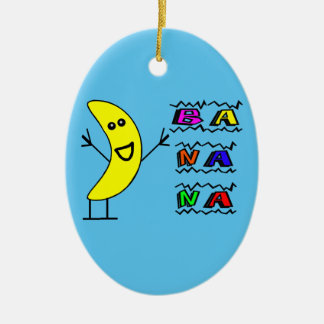 Glückliche Banane Keramik Ornament