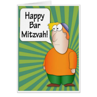 Glückliche Bar Mitzvah Grußkarte - lustiger jüdisc