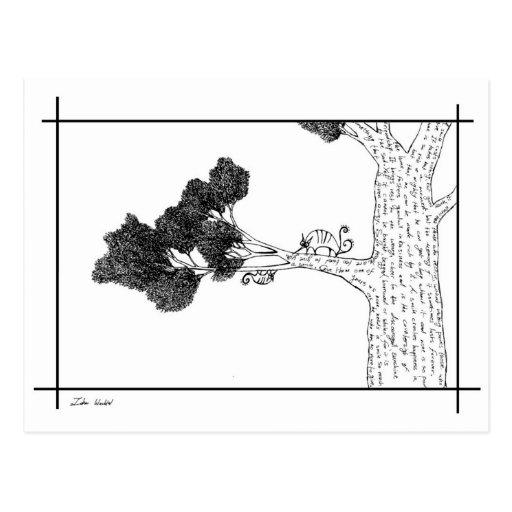 Glückliche Baum-Freunde Postkarten
