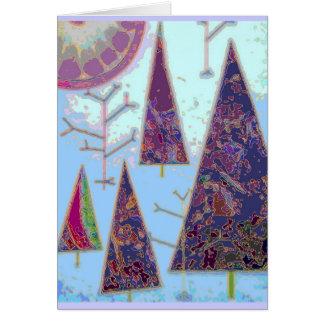 Glückliche Bäume Grußkarte
