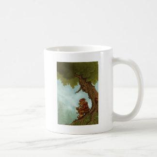 glückliche Baumzwergphantasie Kaffeetasse