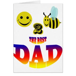 glückliche Biene 2 der beste Vati Karte