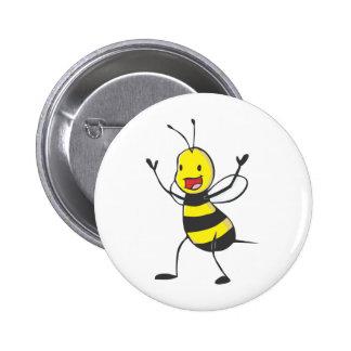 Glückliche Biene Anstecknadelbuttons