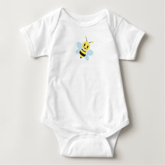 Glückliche Biene mit hinterem Text-Baby-Spielanzug Baby Strampler