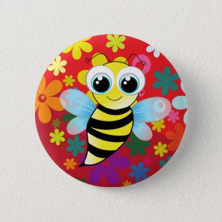 Glückliche Biene Runder Button 5,7 Cm