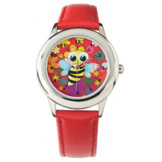 Glückliche Biene Uhr