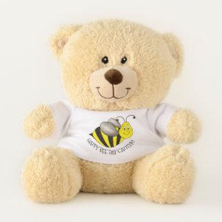 Glückliche Bienen-TagBday Hummel-personalisierter Teddybär