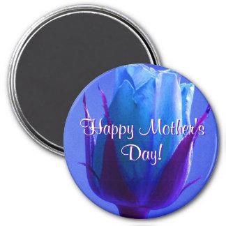 Glückliche Blau-Rose der Mutter Tages Magnete