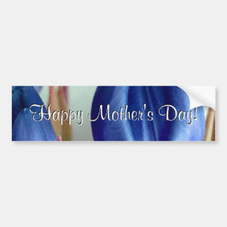 Glückliche blaue Tulpen der Mutter Tages Auto Sticker