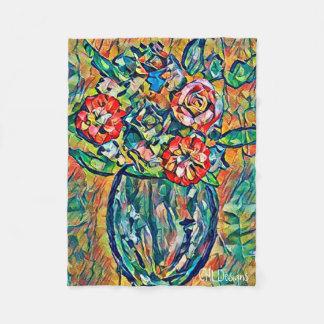 Glückliche Blumenstrauß-Fleecedecke Fleecedecke