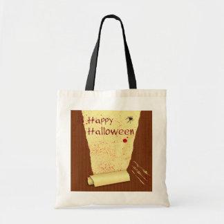 Glückliche blutige Tapete Halloweens - Tasche