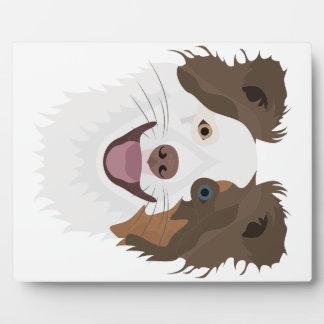 Glückliche Border-Collie Gesicht der Illustration Fotoplatte