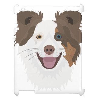 Glückliche Border-Collie Gesicht der Illustration iPad Hülle