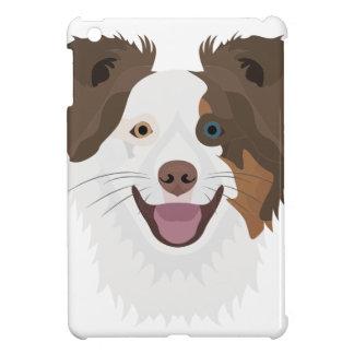 Glückliche Border-Collie Gesicht der Illustration iPad Mini Hülle