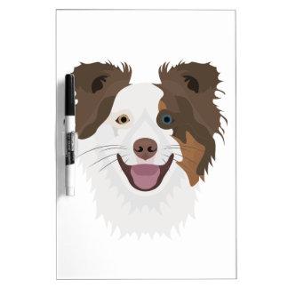 Glückliche Border-Collie Gesicht der Illustration Memoboard