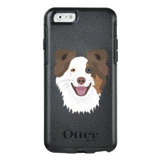 Glückliche Border-Collie Gesicht der Illustration OtterBox iPhone 6/6s Hülle
